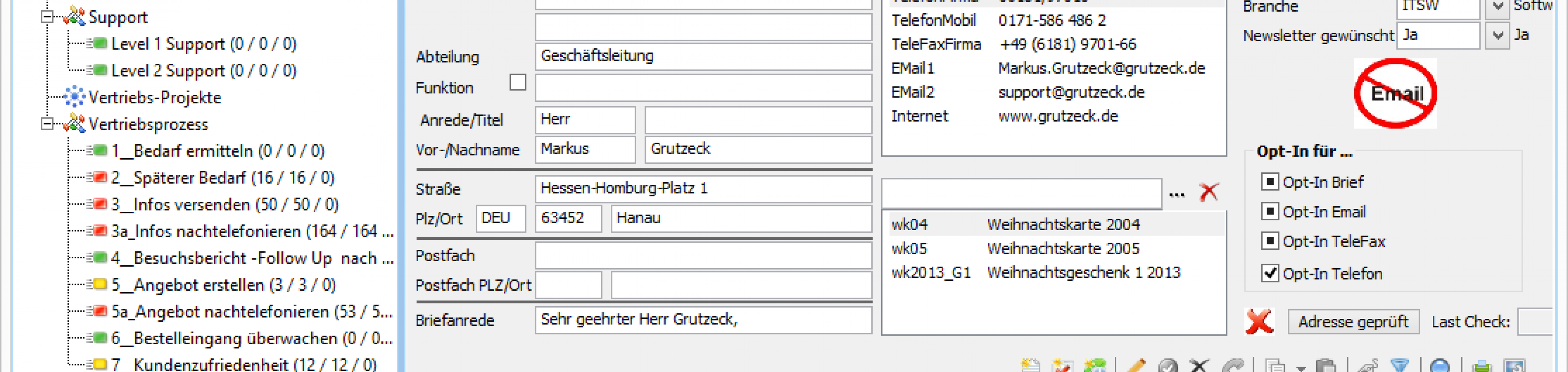 CRM Software AG-VIP SQL mit frischem Oberflächendesign
