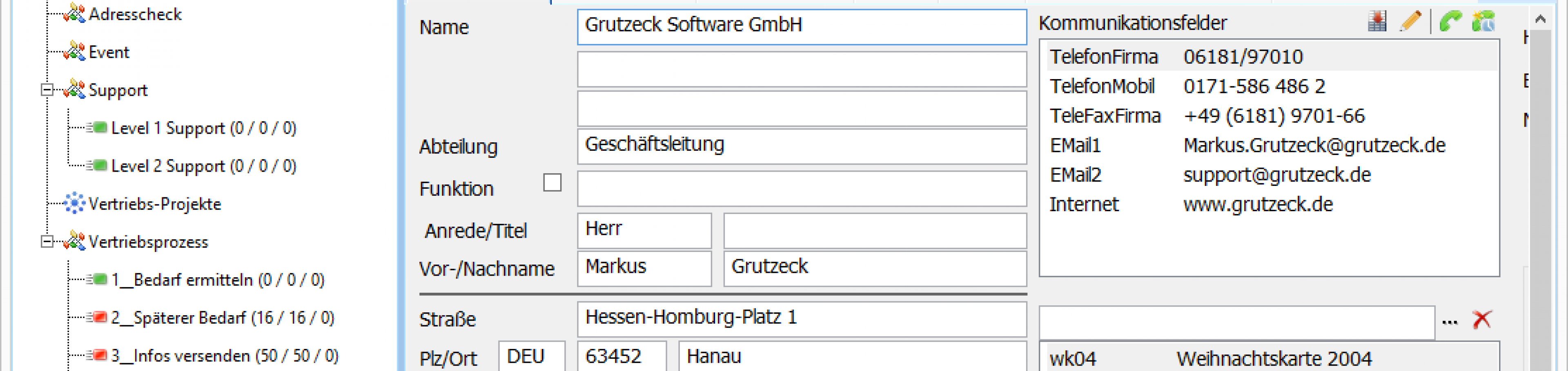 CRM Software AG-VIP SQL: neue oberflaeche touch 125 prozent
