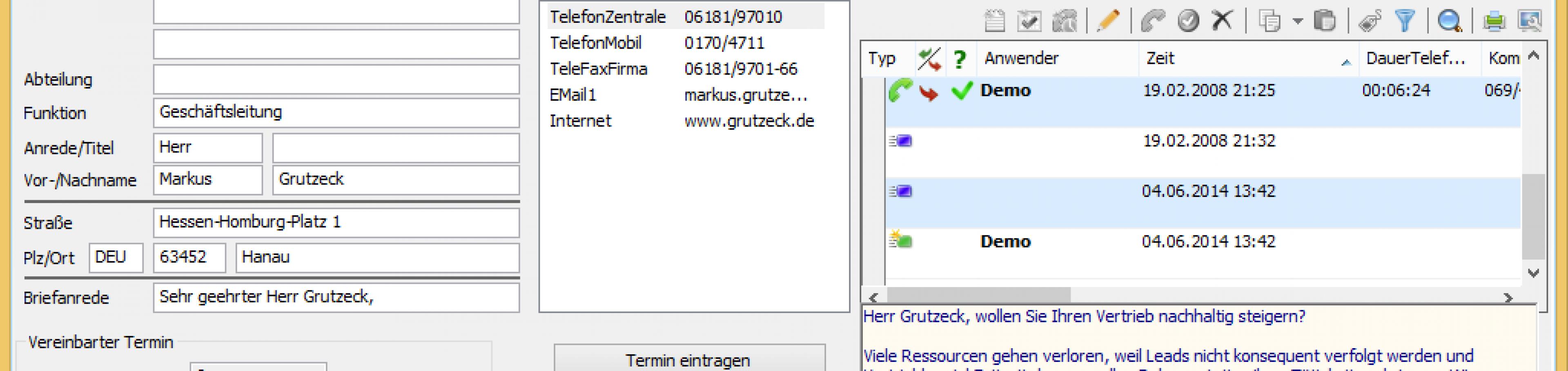 AG-VIP SQL: telefonische Terminvereinbarung - Außendienst Routenplaner