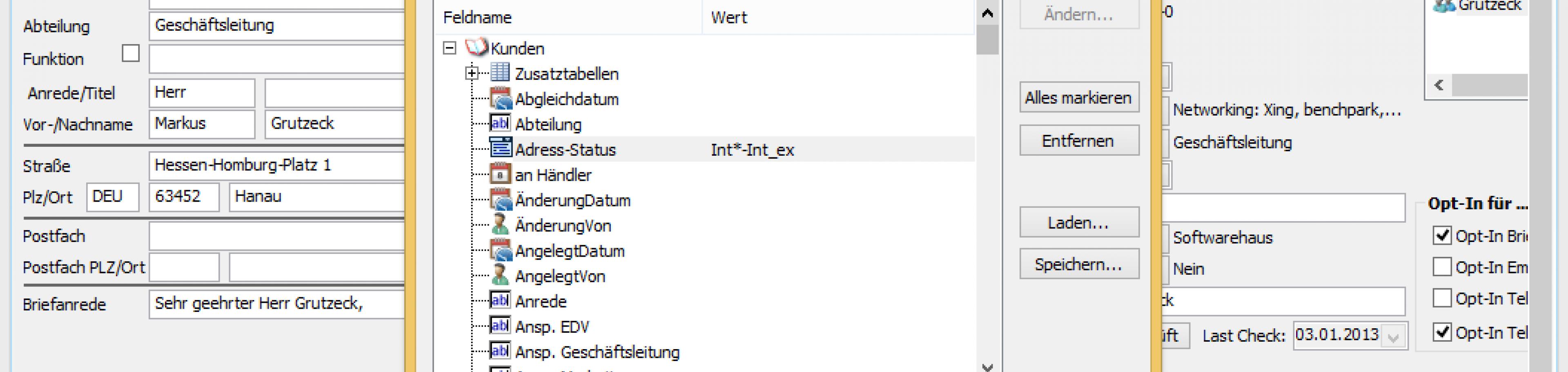 CRM Software AG-VIP SQL - freie Zielgruppenselektion