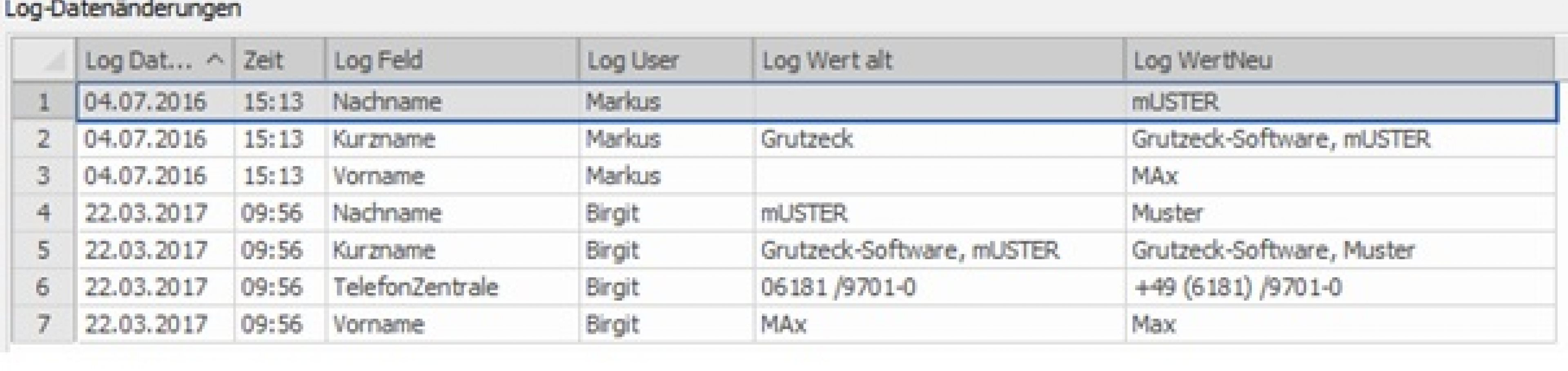 CRM Software: Protokollierung von Datennderungen