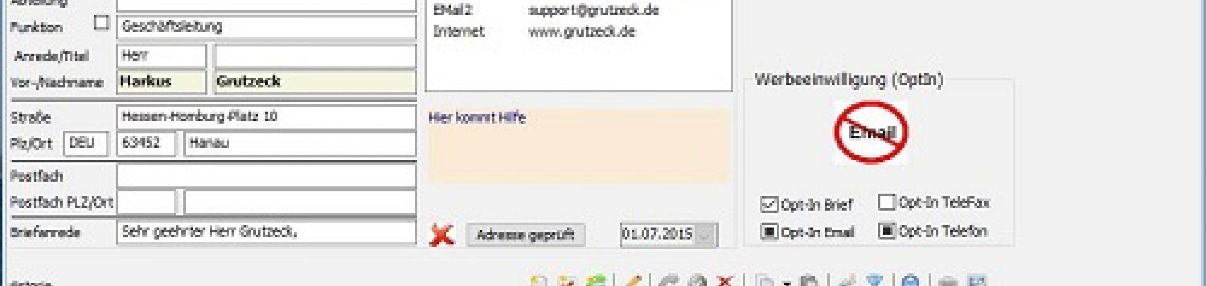Software Adressverwaltung AG-VIP