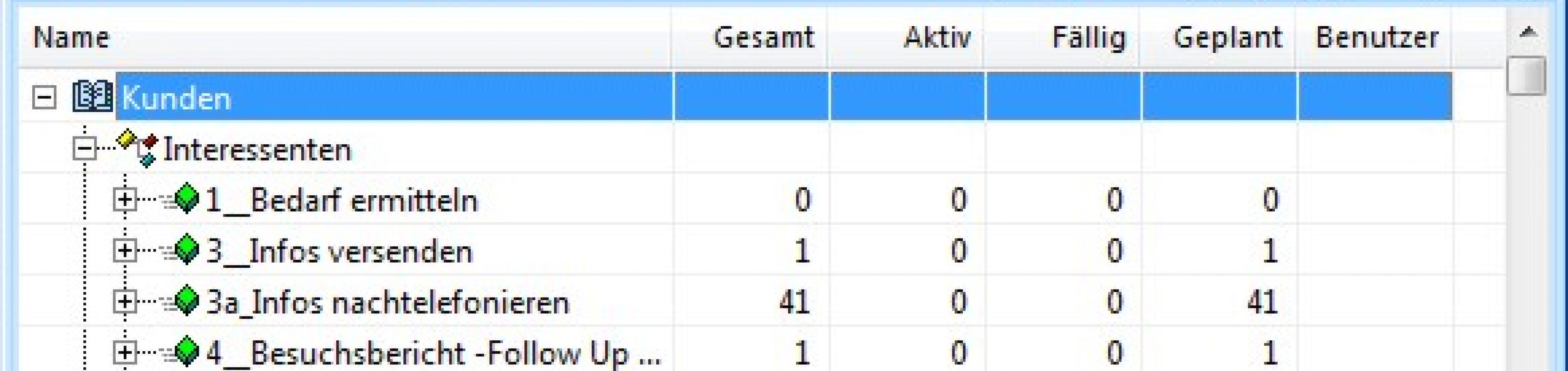 Monitore und Reports zur Kampagnensteuerung in CRM Software AG-VIP