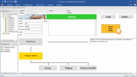 Inbound Software AG-VIP: interaktiver Leitfaden
