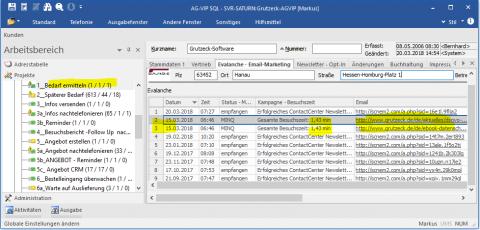 Digitalisierung Neukundenakquise: CRM B2B Tracking Website zur Leadgenerierung