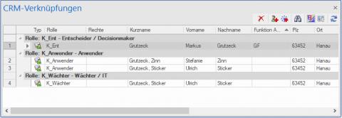 xRM: rollenbezogene Abbildung von Anwendern und Kontakten