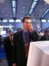 40 Jahre Grutzeck-Software: Generation 2 übernimmt - Markus Grutzeck 2000 auf der Messe